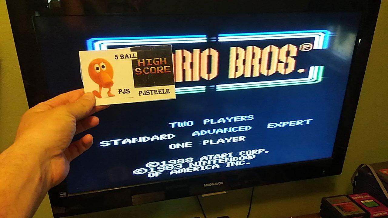 Pjsteele: Mario Bros. [Standard] (Atari 7800) 347,520 points on 2020-04-04 19:37:02