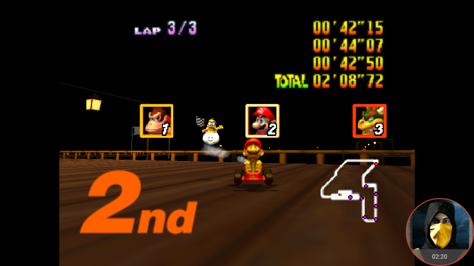 omargeddon: Mario Kart 64: Banshee Boardwalk [Lap Time] [150cc] (N64 Emulated) 0:00:42.15 points on 2018-02-10 18:28:10