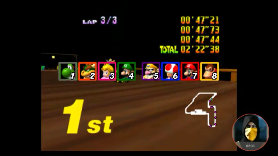 omargeddon: Mario Kart 64: Banshee Boardwalk [Lap Time] [50cc] (N64 Emulated) 0:00:47.21 points on 2018-02-02 19:57:19