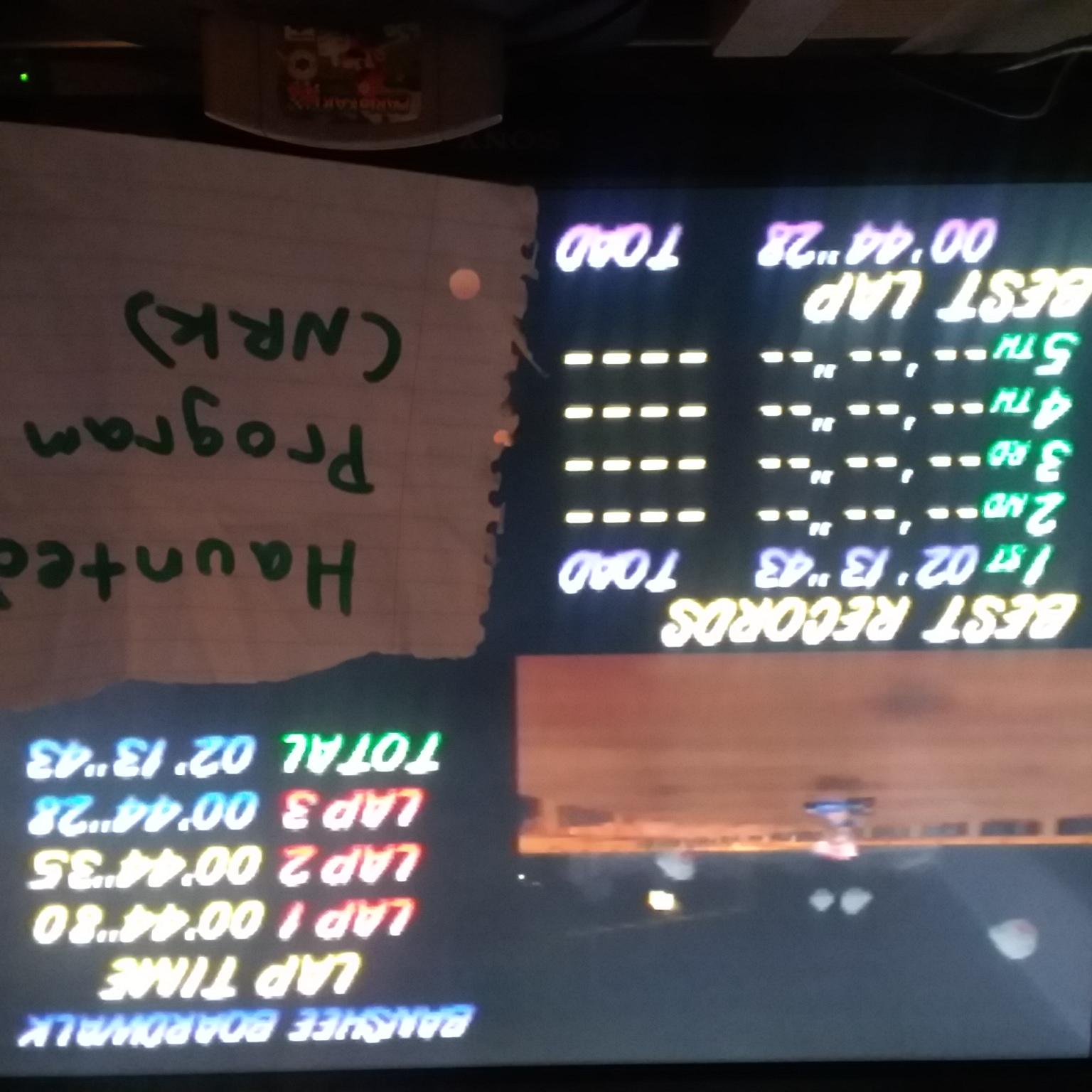 Mario Kart 64: Banshee Boardwalk [Time Trial] time of 0:02:13.43