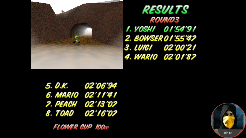 omargeddon: Mario Kart 64: Choco Mountain [100cc] (N64 Emulated) 0:01:54.91 points on 2018-02-03 12:03:42