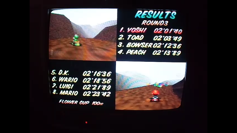 omargeddon: Mario Kart 64: Choco Mountain [100cc] (N64) 0:02:01.4 points on 2020-04-22 16:26:41