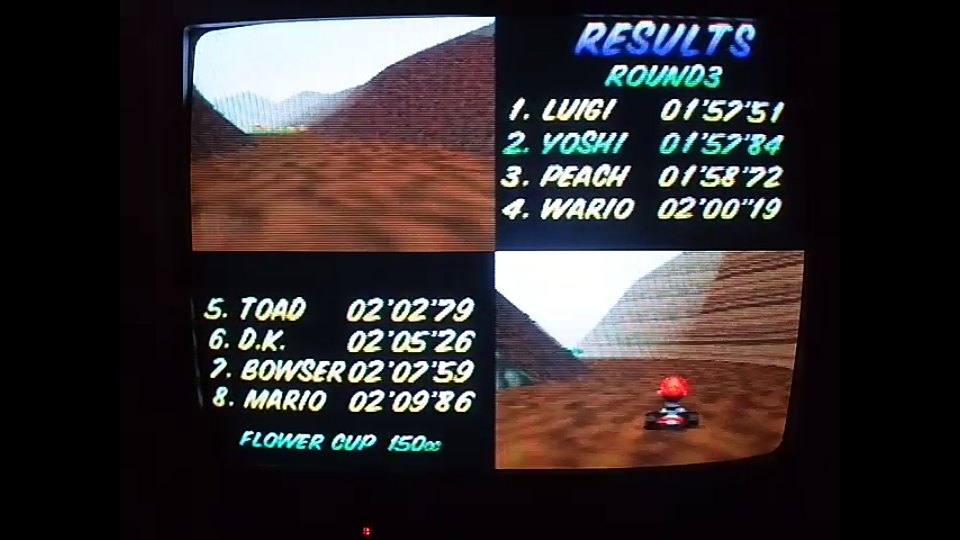 omargeddon: Mario Kart 64: Choco Mountain [150cc] (N64) 0:01:57.84 points on 2020-04-26 16:29:18