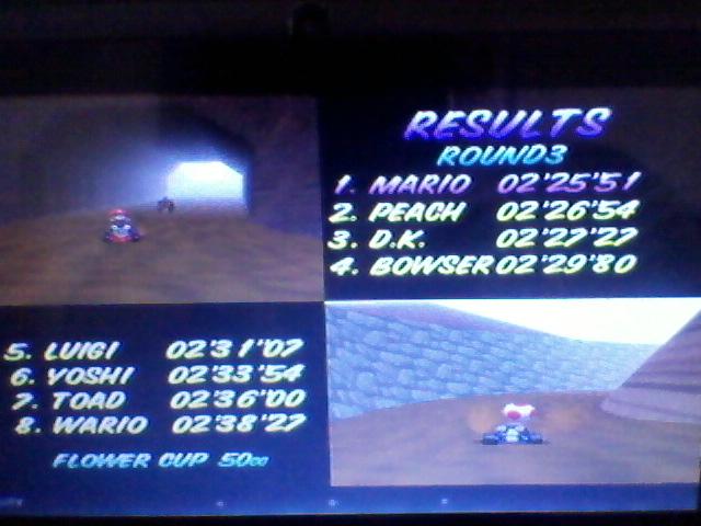 ecworiginal: Mario Kart 64: Choco Mountain [50cc] (N64 Emulated) 0:02:25.51 points on 2015-12-20 10:15:32