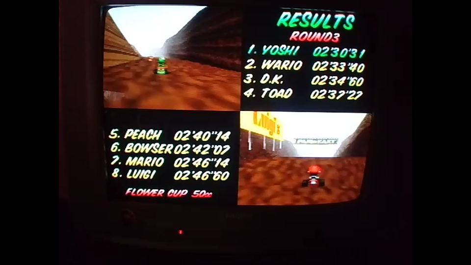 omargeddon: Mario Kart 64: Choco Mountain [50cc] (N64) 0:02:30.31 points on 2020-04-12 15:42:46
