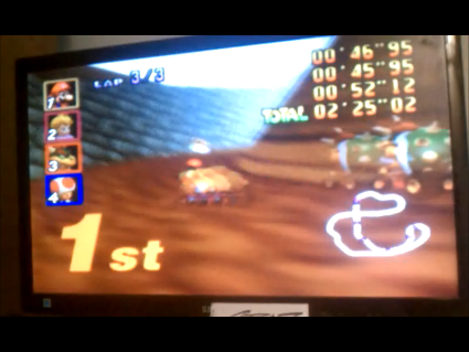 S.BAZ: Mario Kart 64: Choco Mountain [Lap Time] [50cc] (N64) 0:00:45.95 points on 2016-05-26 14:12:14
