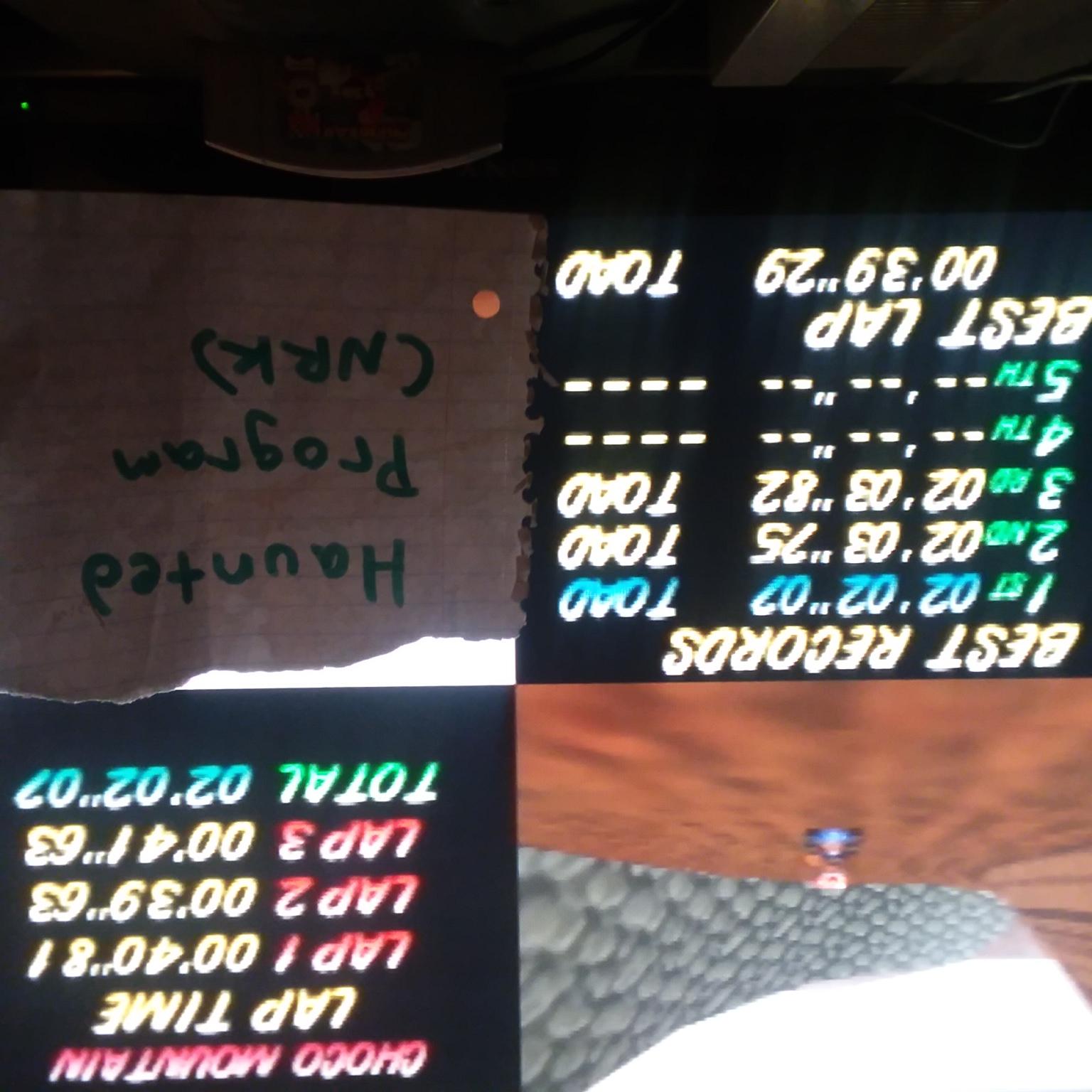 Mario Kart 64: Choco Mountain [Time Trial] time of 0:02:02.07