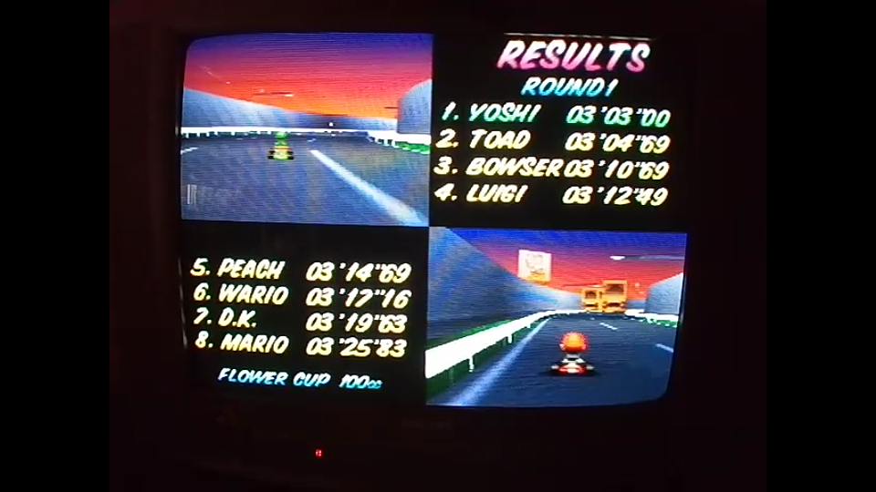 omargeddon: Mario Kart 64: Flower Cup [Points] [100cc] (N64) 33 points on 2020-04-22 16:13:32