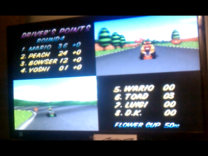S.BAZ: Mario Kart 64: Flower Cup [Points] [50cc] (N64) 36 points on 2016-05-29 14:10:59
