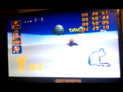S.BAZ: Mario Kart 64: Frappe Snowland [50cc] (N64) 0:02:29.12 points on 2016-05-25 19:37:02