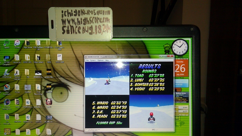 ichigokurosaki1991: Mario Kart 64: Frappe Snowland [50cc] (N64 Emulated) 0:02:27.03 points on 2016-07-27 00:28:00