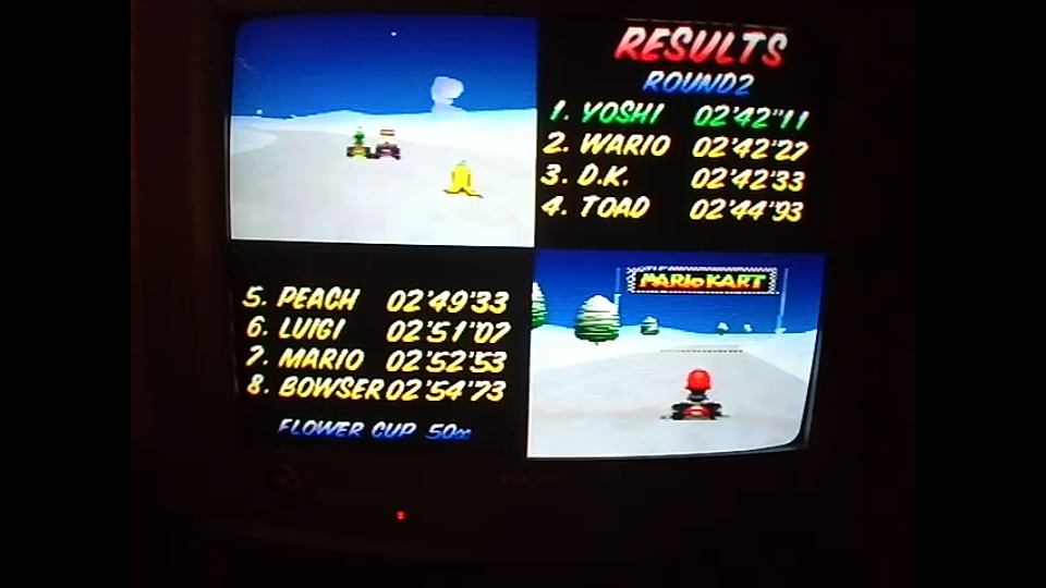 omargeddon: Mario Kart 64: Frappe Snowland [50cc] (N64) 0:02:42.11 points on 2020-04-12 15:39:49