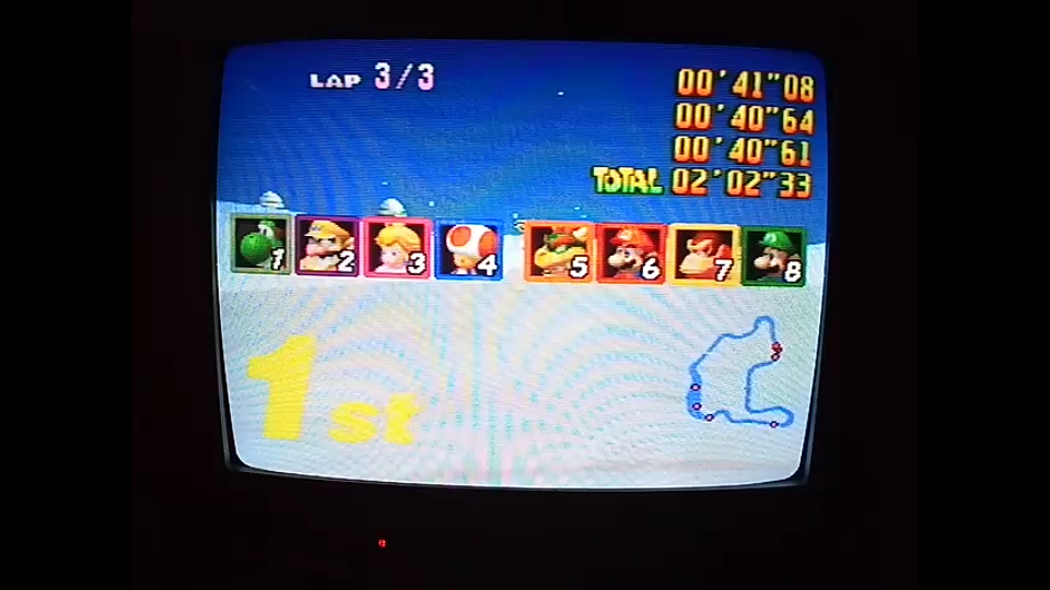 omargeddon: Mario Kart 64: Frappe Snowland [Lap Time] [100cc] (N64) 0:00:40.61 points on 2020-04-22 16:25:07