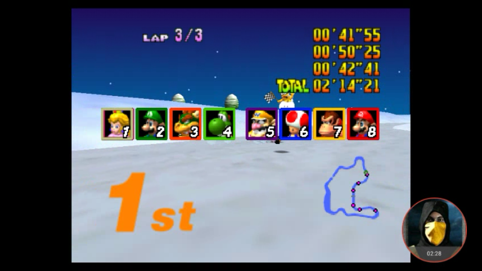 omargeddon: Mario Kart 64: Frappe Snowland [Lap Time] [150cc] (N64 Emulated) 0:00:41.55 points on 2018-02-07 10:34:51