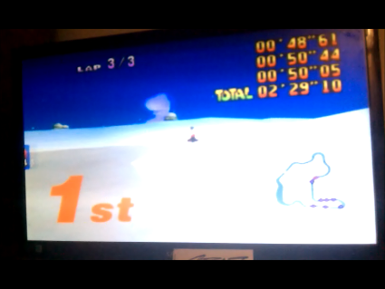 S.BAZ: Mario Kart 64: Frappe Snowland [Lap Time] [50cc] (N64) 0:00:48.61 points on 2016-05-26 14:14:23