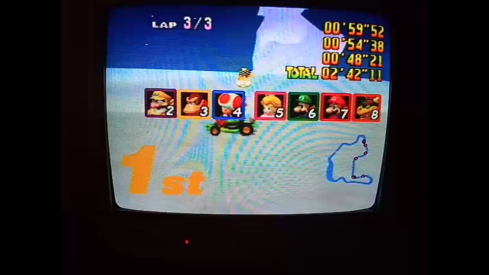 omargeddon: Mario Kart 64: Frappe Snowland [Lap Time] [50cc] (N64) 0:00:48.21 points on 2020-04-12 15:40:56