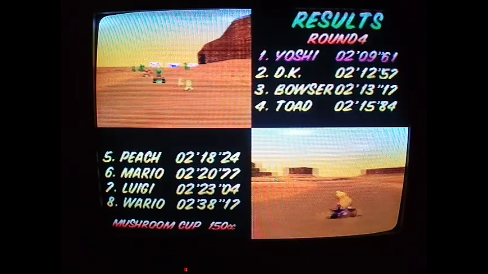 omargeddon: Mario Kart 64: Kalimari Desert [150cc] (N64) 0:02:09.61 points on 2020-04-26 16:19:56
