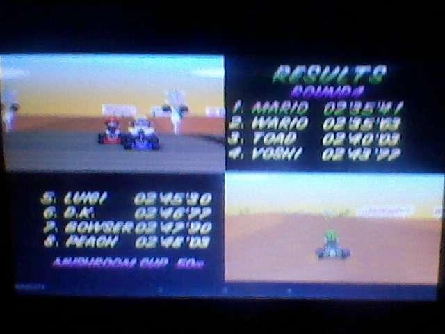 ecworiginal: Mario Kart 64: Kalimari Desert [50cc] (N64 Emulated) 0:02:35.41 points on 2015-12-20 00:17:10