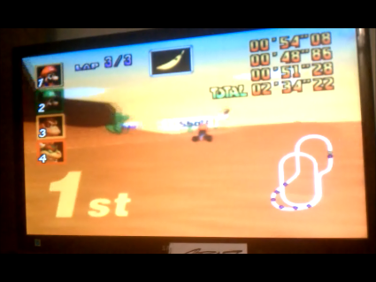 S.BAZ: Mario Kart 64: Kalimari Desert [50cc] (N64) 0:02:34.22 points on 2016-05-25 19:40:42