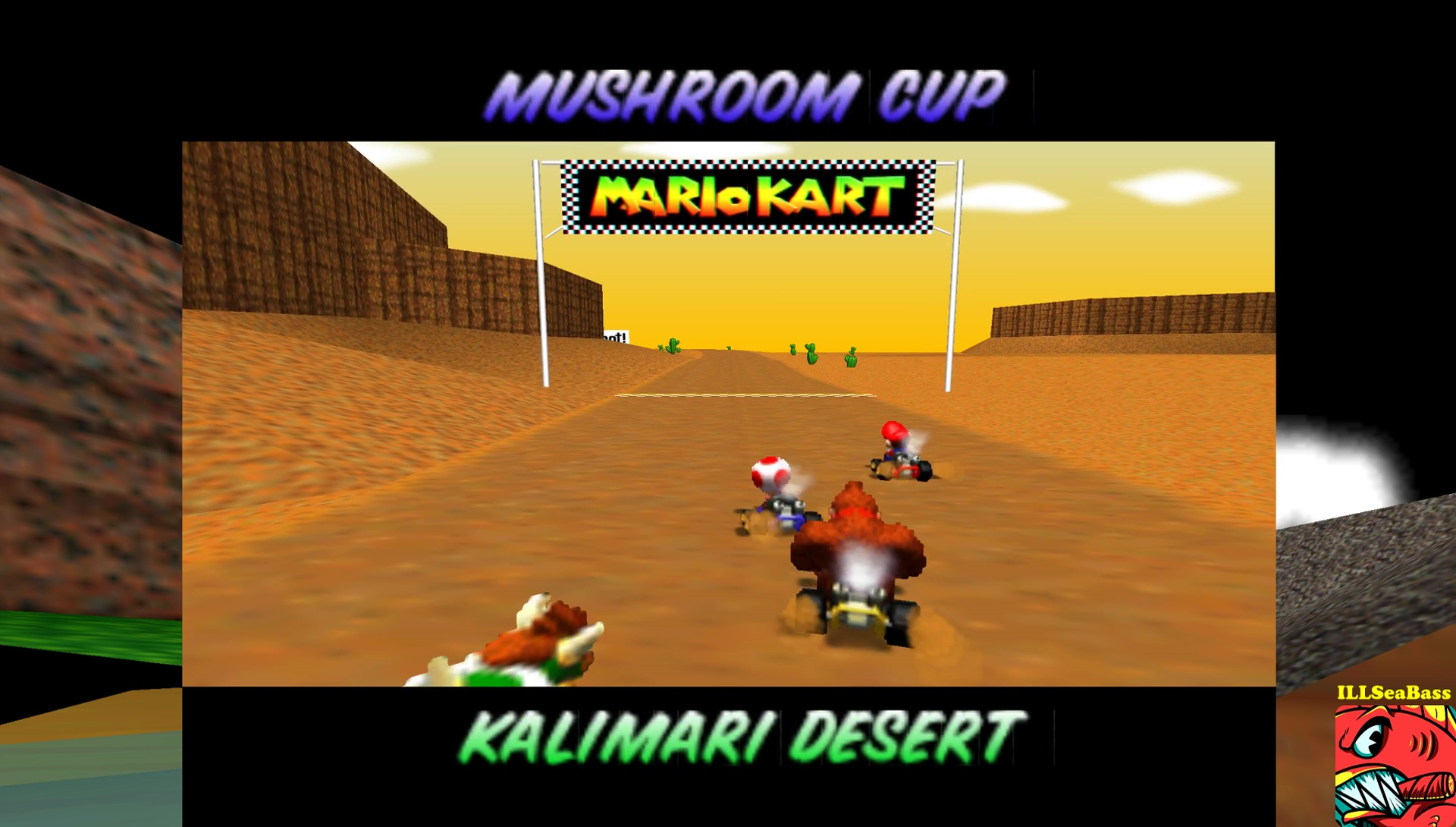 ILLSeaBass: Mario Kart 64: Kalimari Desert [50cc] (N64 Emulated) 0:02:33.46 points on 2017-05-29 13:17:05