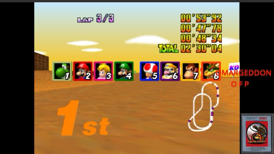 Mario Kart 64: Kalimari Desert [50cc] time of 0:02:30.04