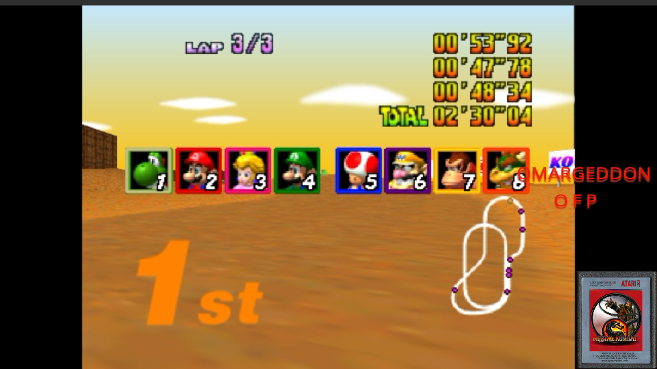 omargeddon: Mario Kart 64: Kalimari Desert [50cc] (N64 Emulated) 0:02:30.04 points on 2017-05-30 00:16:05