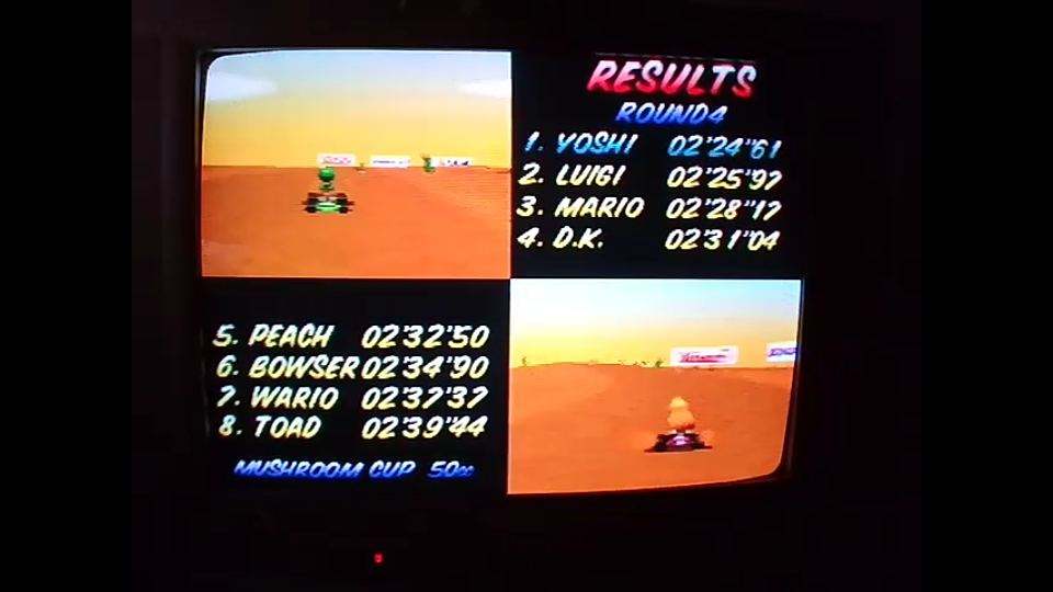 omargeddon: Mario Kart 64: Kalimari Desert [50cc] (N64) 0:02:24.61 points on 2020-04-12 14:55:00
