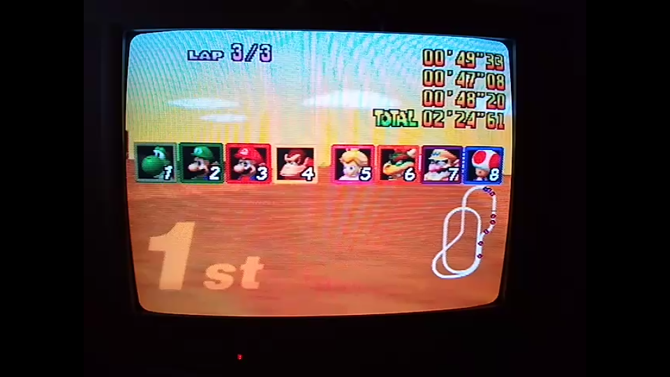 omargeddon: Mario Kart 64: Kalimari Desert [Lap Time] [50cc] (N64) 0:00:47.08 points on 2020-04-12 15:00:31