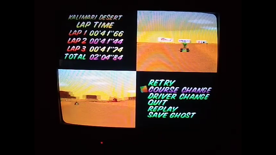 omargeddon: Mario Kart 64: Kalimari Desert [Time Trial] [Lap Time] (N64) 0:00:41.44 points on 2020-04-22 14:50:12