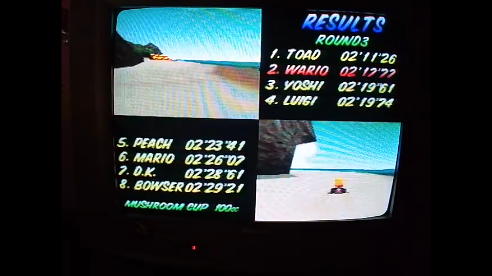 omargeddon: Mario Kart 64: Koopa Troopa Beach [100cc] (N64) 0:02:17.77 points on 2020-04-12 17:31:35