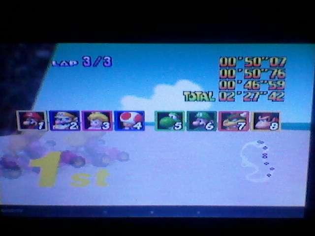 Mario Kart 64: Koopa Troopa Beach [50cc] time of 0:02:27.42