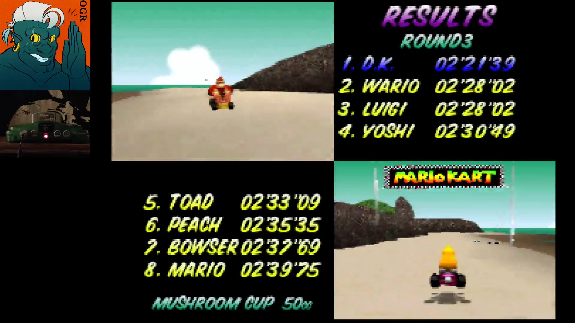 AwesomeOgre: Mario Kart 64: Koopa Troopa Beach [50cc] (N64) 0:02:21.39 points on 2020-03-12 20:13:49