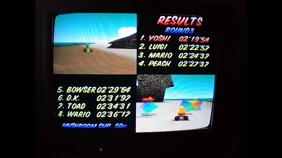 omargeddon: Mario Kart 64: Koopa Troopa Beach [50cc] (N64) 0:02:19.54 points on 2020-04-12 14:53:47