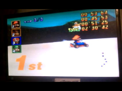 S.BAZ: Mario Kart 64: Koopa Troopa Beach [Lap Time] [50cc] (N64) 0:00:45.53 points on 2016-05-26 15:39:34