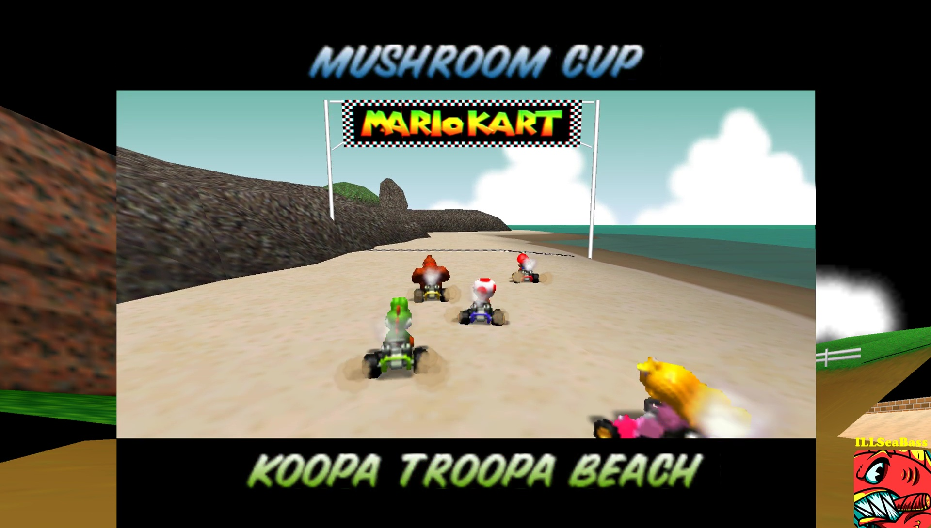 ILLSeaBass: Mario Kart 64: Koopa Troopa Beach [Lap Time] [50cc] (N64 Emulated) 0:00:46.28 points on 2017-05-29 12:56:05