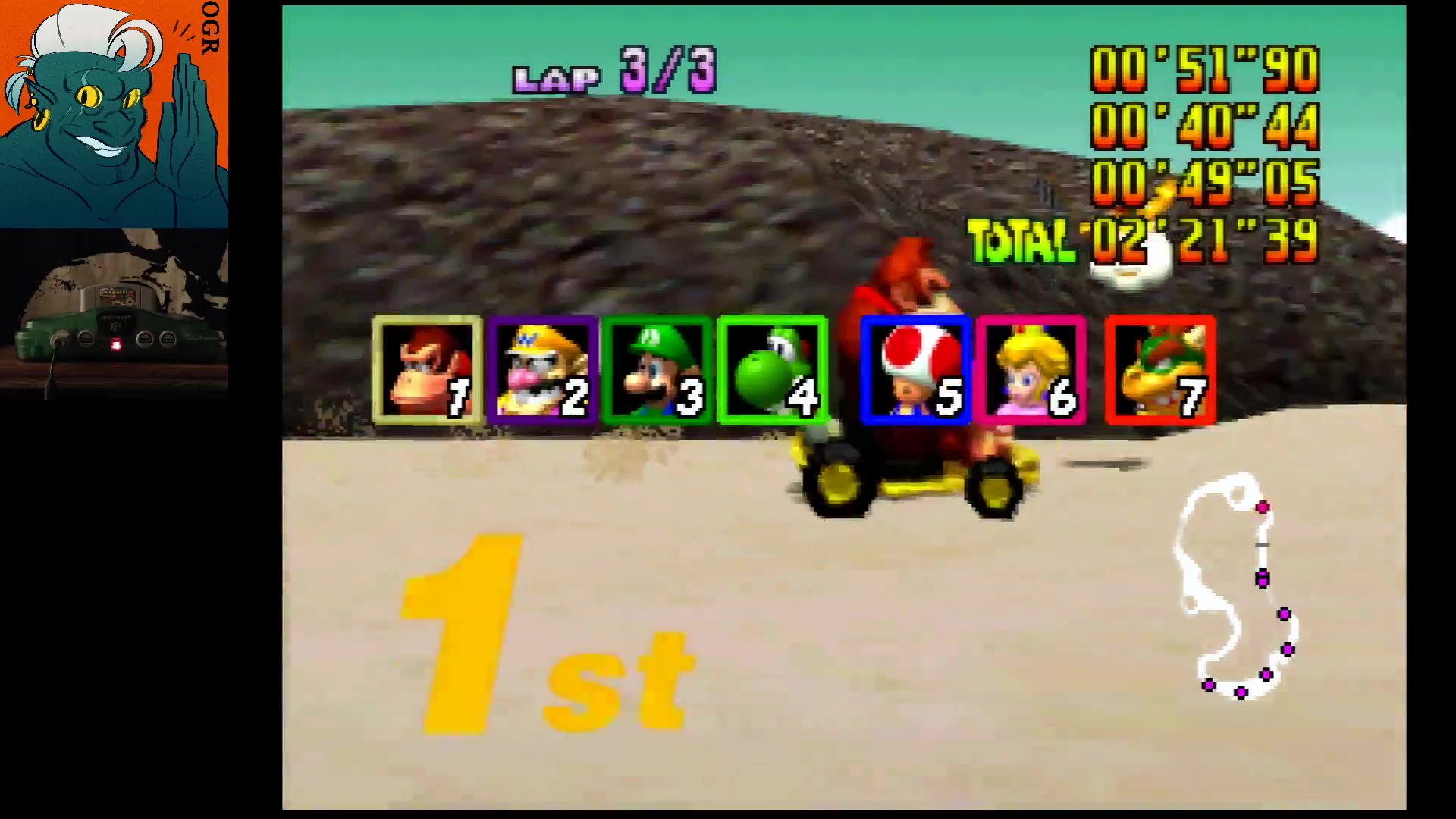 AwesomeOgre: Mario Kart 64: Koopa Troopa Beach [Lap Time] [50cc] (N64) 0:00:40.44 points on 2020-03-12 21:15:30