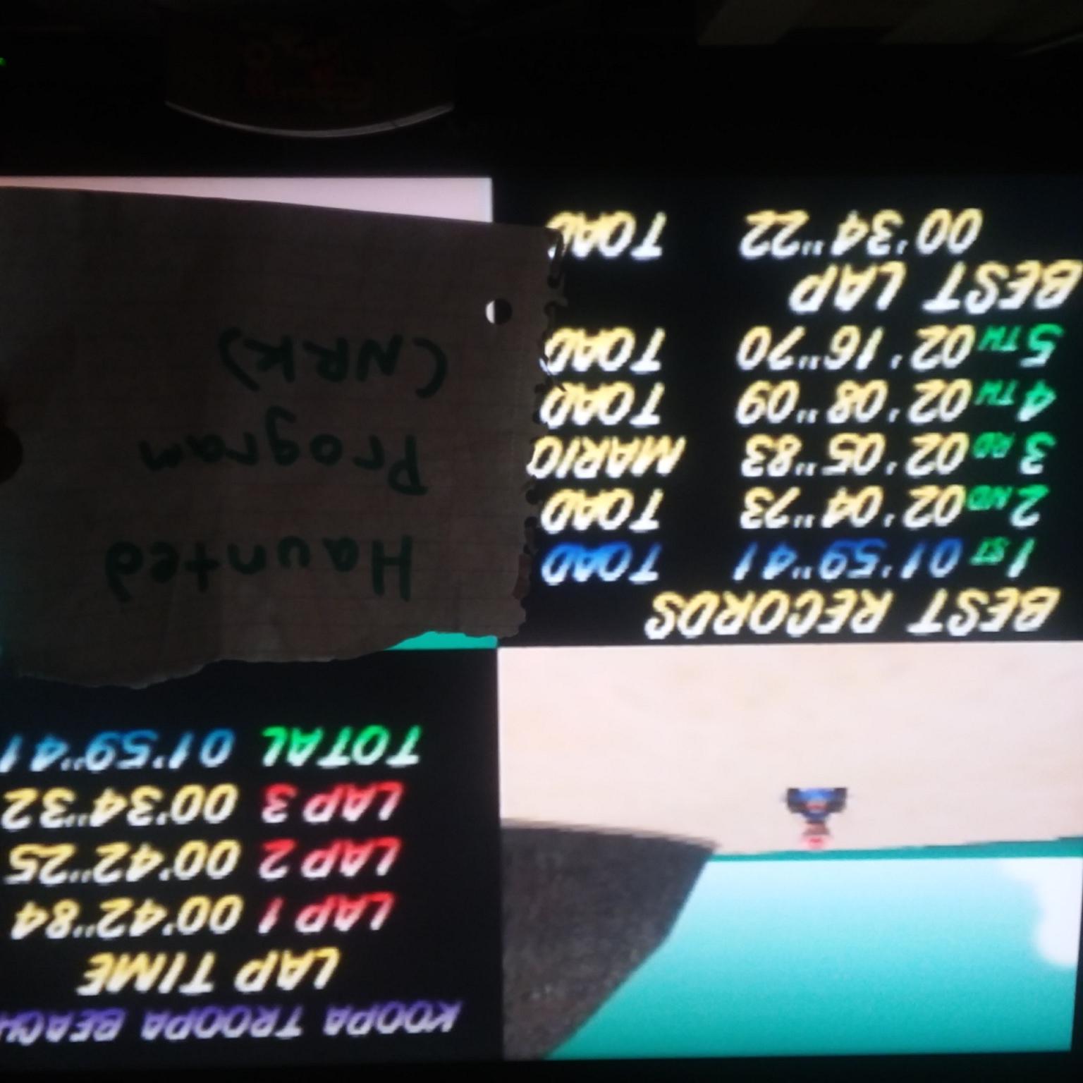 Mario Kart 64: Koopa Troopa Beach [Time Trial] time of 0:01:59.41