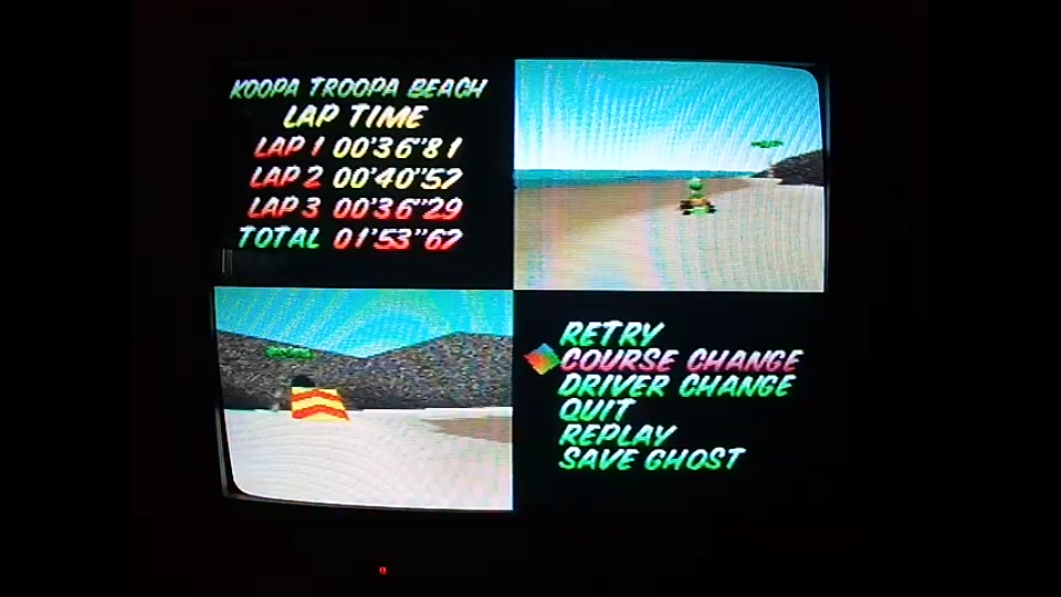 omargeddon: Mario Kart 64: Koopa Troopa Beach [Time Trial] (N64) 0:01:53.67 points on 2020-04-22 12:10:40