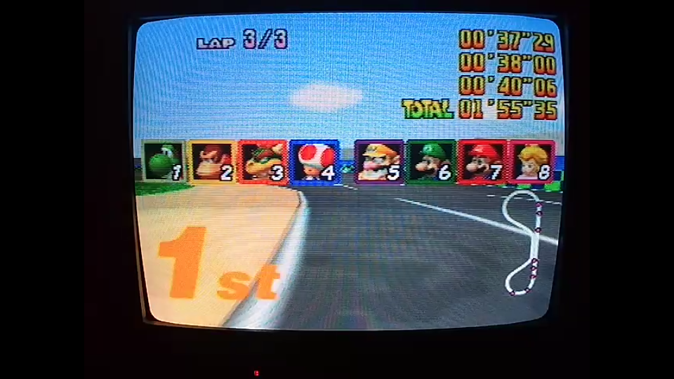 omargeddon: Mario Kart 64: Luigi Raceway [Lap Time] [150cc] (N64) 0:00:37.29 points on 2020-04-26 20:08:20