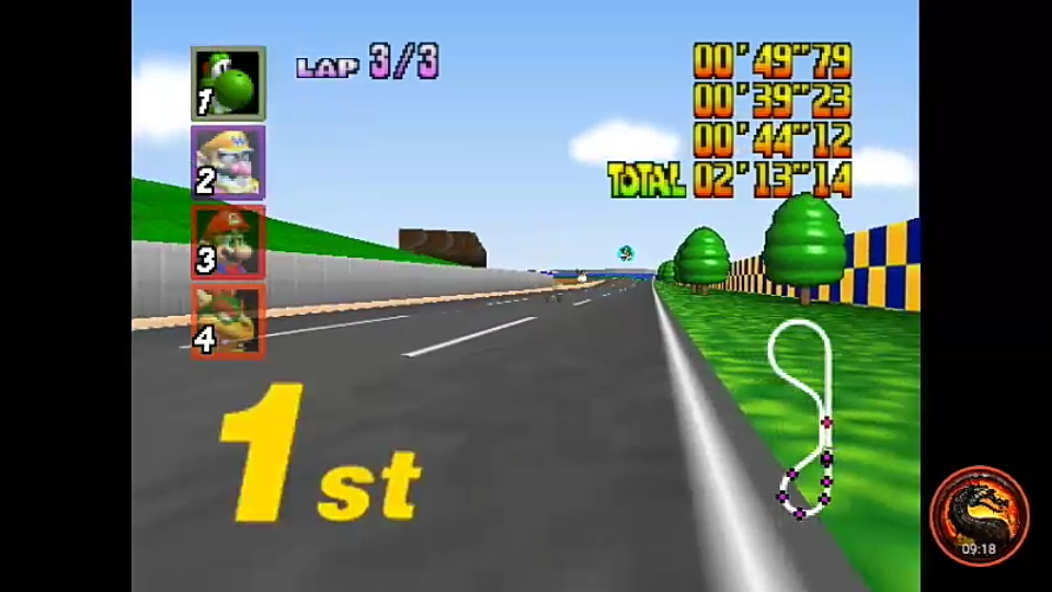 omargeddon: Mario Kart 64: Luigi Raceway [Lap Time] [50cc] (N64 Emulated) 0:00:39.23 points on 2020-01-26 22:19:59