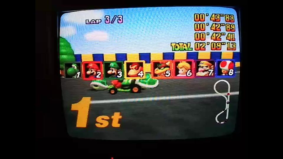 Mario Kart 64: Luigi Raceway [Lap Time] [50cc] time of 0:00:42.41