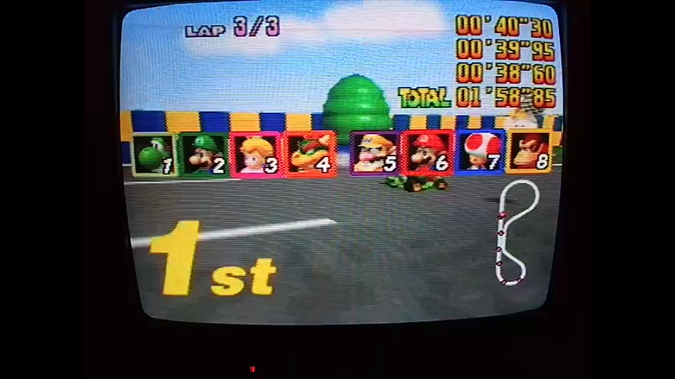 omargeddon: Mario Kart 64: Luigi Raceway [Lap Time] [Extra] (N64) 0:00:38.6 points on 2020-05-18 12:32:19