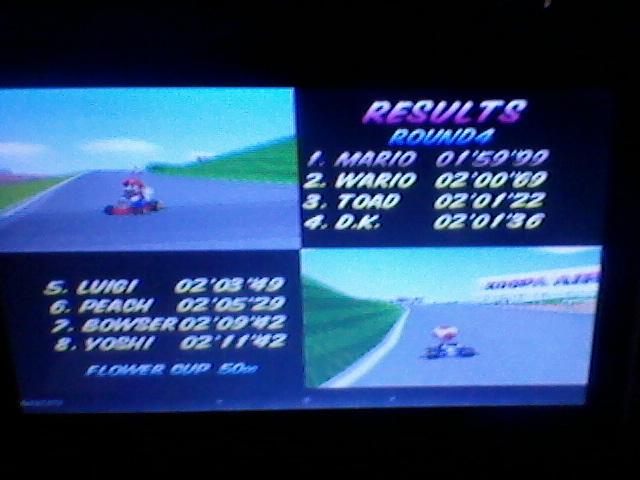 ecworiginal: Mario Kart 64: Mario Raceway [50cc] (N64 Emulated) 0:01:59.99 points on 2015-12-20 10:21:02