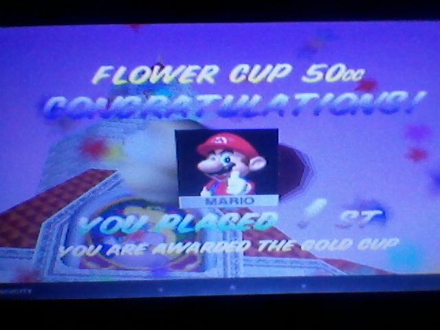 Mario Kart 64: Mario Raceway [50cc] time of 0:01:59.99