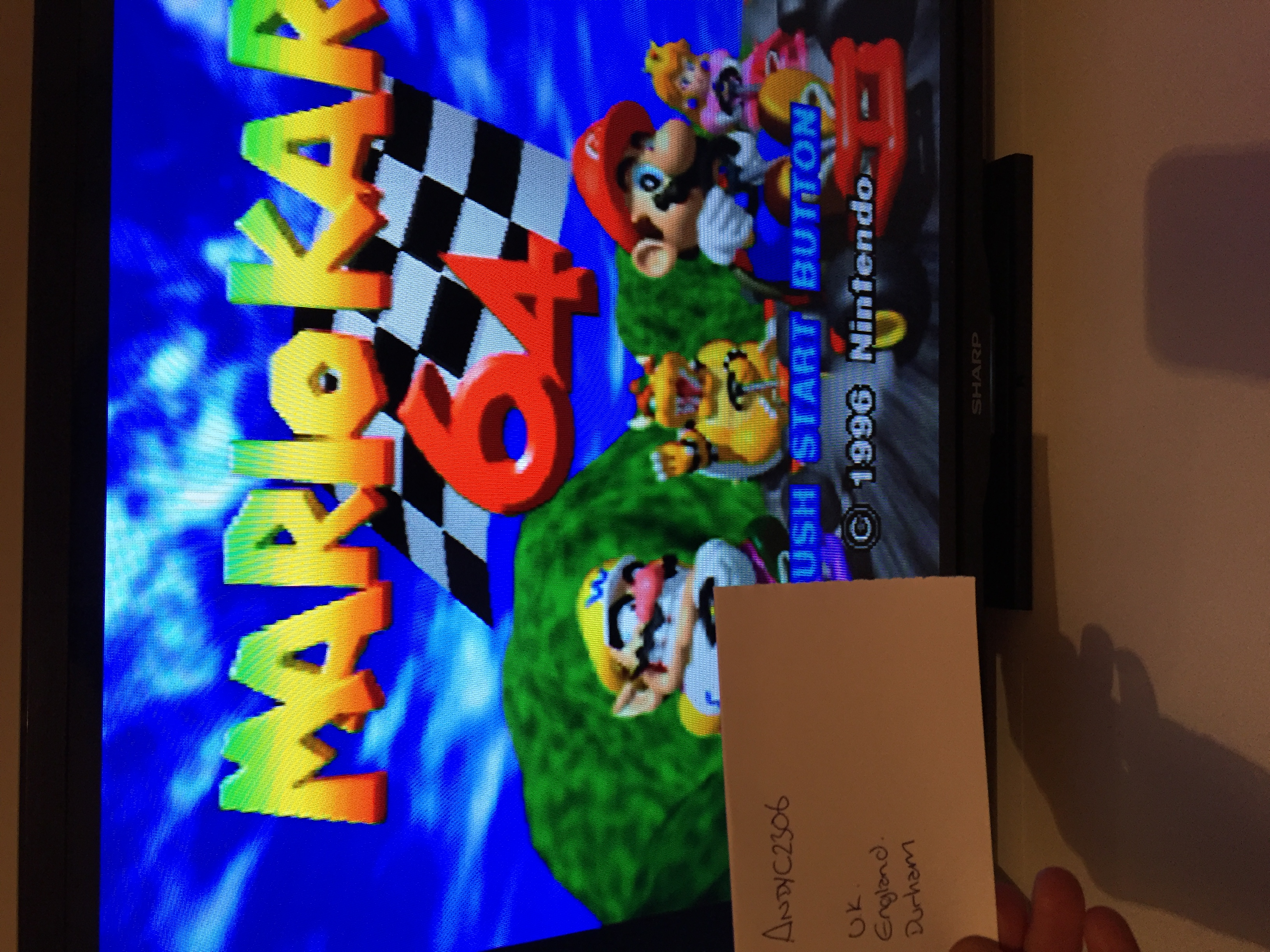 AndyC2306: Mario Kart 64: Mario Raceway [50cc] (N64 Emulated) 0:01:52.26 points on 2016-01-22 14:57:46