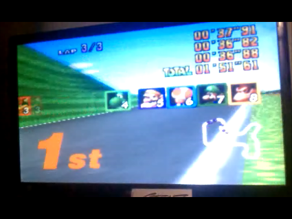 S.BAZ: Mario Kart 64: Mario Raceway [50cc] (N64) 0:01:51.61 points on 2016-05-25 20:33:15