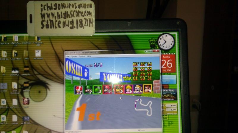 Mario Kart 64: Mario Raceway [50cc] time of 0:01:50.31