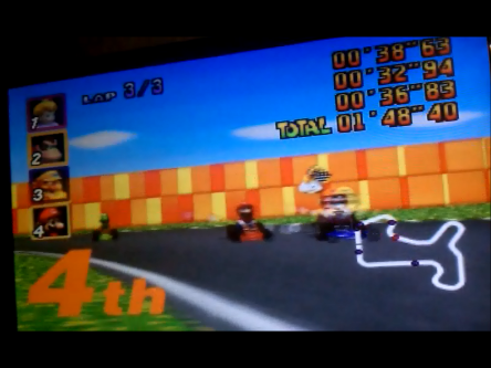 S.BAZ: Mario Kart 64: Mario Raceway [Lap Time] [100cc] (N64) 0:00:32.94 points on 2016-04-22 23:45:15