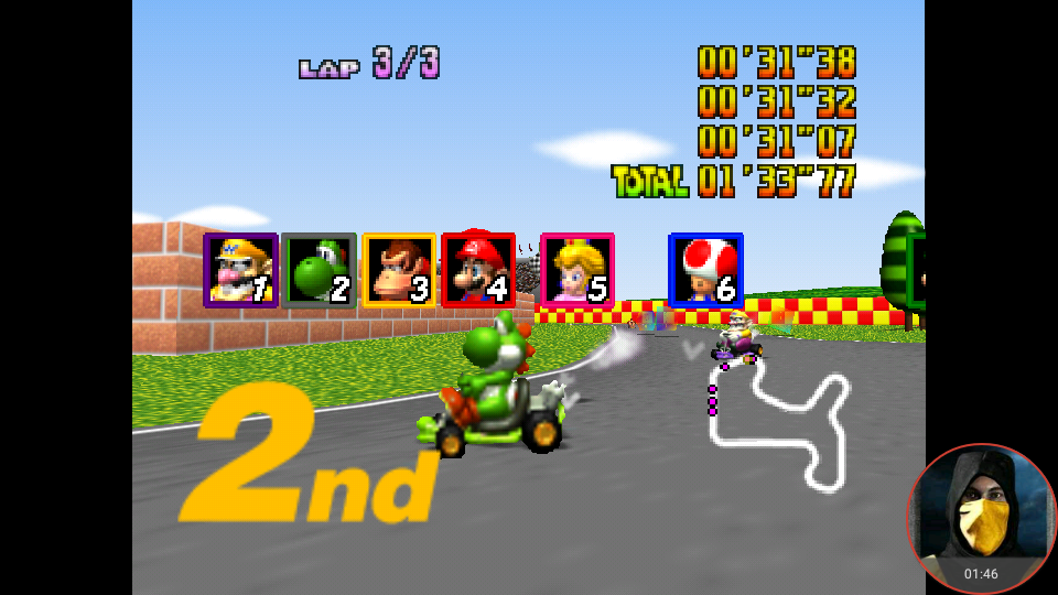 omargeddon: Mario Kart 64: Mario Raceway [Lap Time] [100cc] (N64 Emulated) 0:00:31.07 points on 2018-02-03 15:57:44