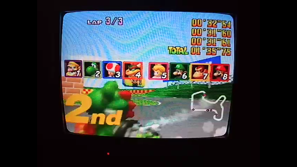 omargeddon: Mario Kart 64: Mario Raceway [Lap Time] [100cc] (N64) 0:00:31.6 points on 2020-04-22 16:31:35